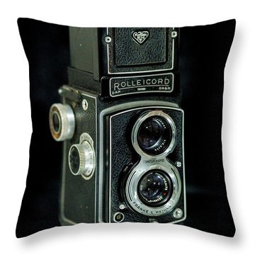 Throw Pillow featuring the photograph Rollei Twin Lense by Keith Hawley