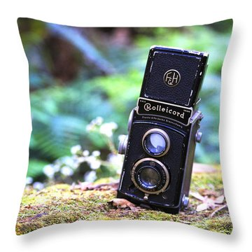 Throw Pillow featuring the photograph Rolleicord 2 by Keith Hawley