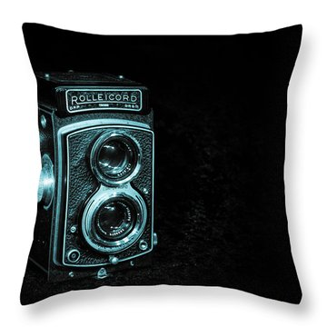 Throw Pillow featuring the photograph Rolleicord by Keith Hawley