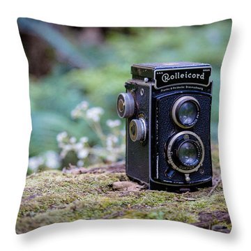 Throw Pillow featuring the photograph Rolleicord Tlr by Keith Hawley