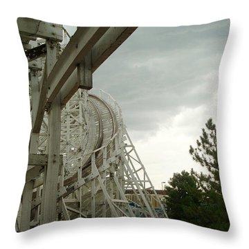 Roller Coaster 5 Throw Pillow