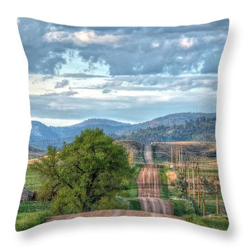 Rollercoaster Country Road Throw Pillow
