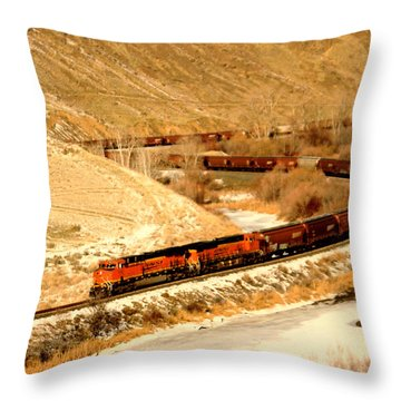 Rolling Around The Bend Throw Pillow