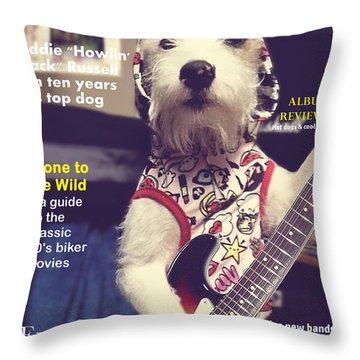 Rolling Bone Magazine Throw Pillow