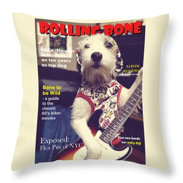 Rolling Bone Magazine Throw Pillow