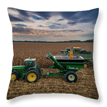 Rolling By Throw Pillow