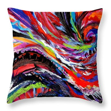 Rolling Detail Three Throw Pillow by Expressionistart studio Priscilla Batzell