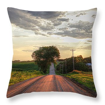 Rolling Down A Country Road Throw Pillow