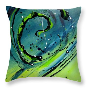 Throw Pillow featuring the painting Rolling Down The River by Mary Kay Holladay
