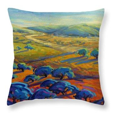 Rolling Hills 3 Throw Pillow