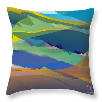 Rolling Hills Landscape Throw Pillow