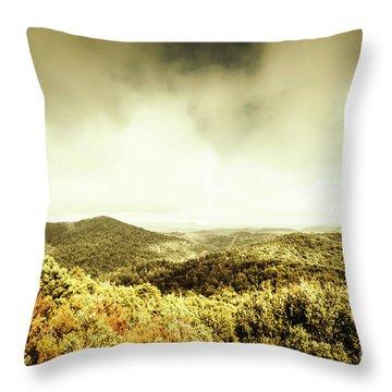 Rolling Hills Of The Tarkine, Tasmania Throw Pillow