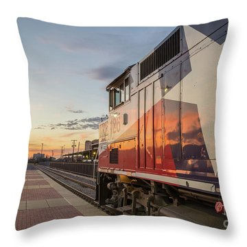 Rolling Into The Sunset Throw Pillow