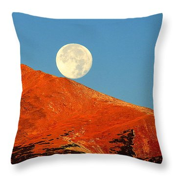 Rolling Moon Throw Pillow