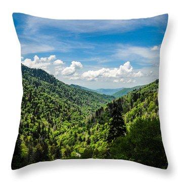 Rolling Mountains Throw Pillow