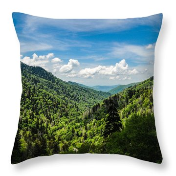Rolling Mountains Throw Pillow