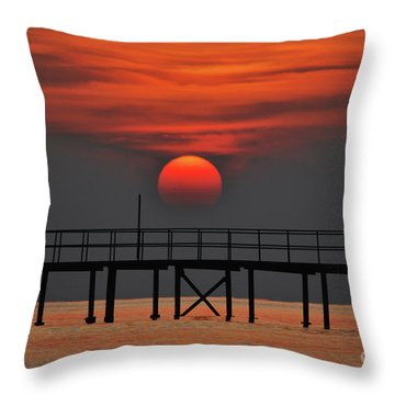 Throw Pillow featuring the photograph Rolling On The Sea by Erhan OZBIYIK