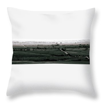 Rolling Roads Throw Pillow