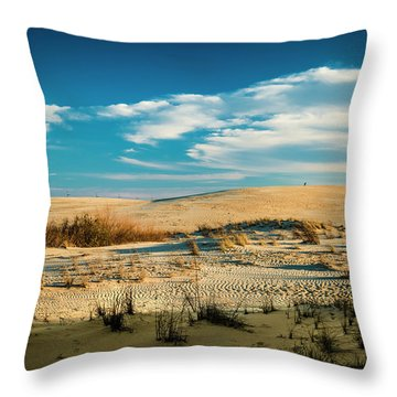 Rolling Sand Dunes Throw Pillow