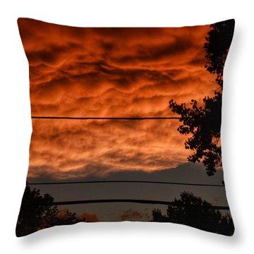 Rolling Skies Throw Pillow by Nikki McInnes