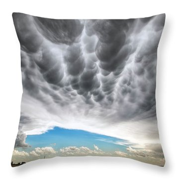 Rolling Sky Throw Pillow