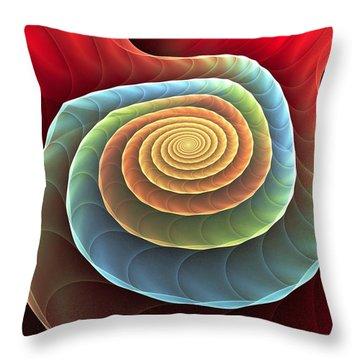 Throw Pillow featuring the digital art Rolling Spiral by Anastasiya Malakhova