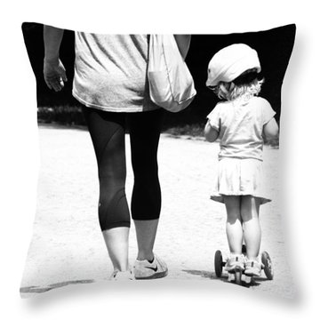 Rolling With Moms Throw Pillow