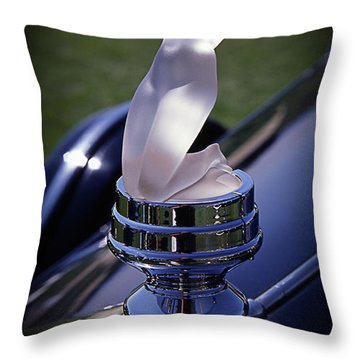 Rolls Lady Throw Pillow