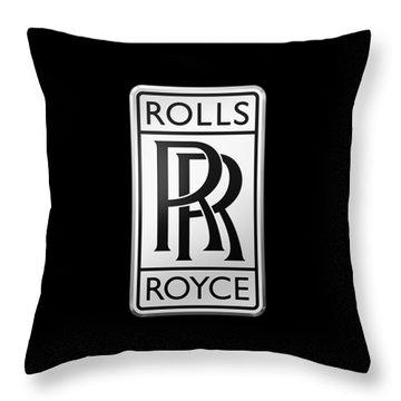Rolls Royce Throw Pillow