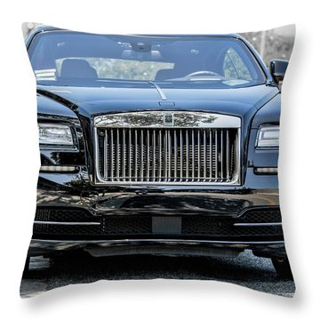 Rolls - Royce Wraith Coupe 2016 Throw Pillow