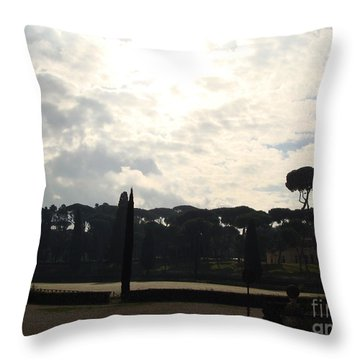 Roma, Villa Borghese Throw Pillow