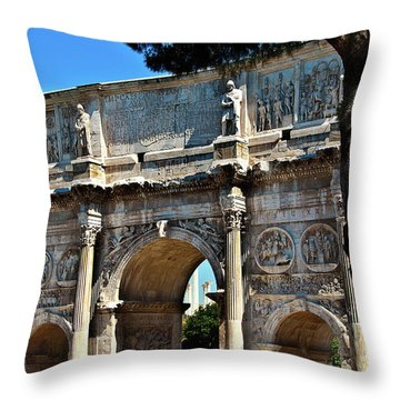 Throw Pillow featuring the photograph Roman Arch by Harry Spitz