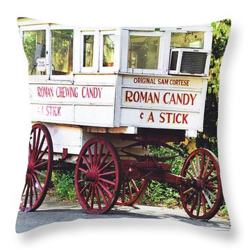 Roman Candy Throw Pillow