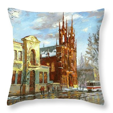 Roman Catholic Church Throw Pillow