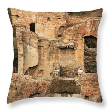 Roman Colosseum Throw Pillow by Silvia Bruno