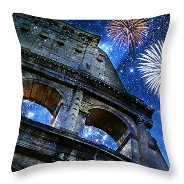 Roman Holiday Throw Pillow