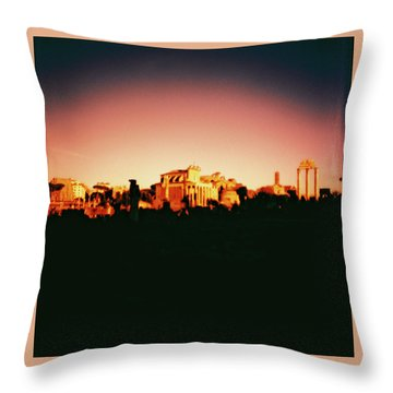 Roman Imperial Forum Throw Pillow