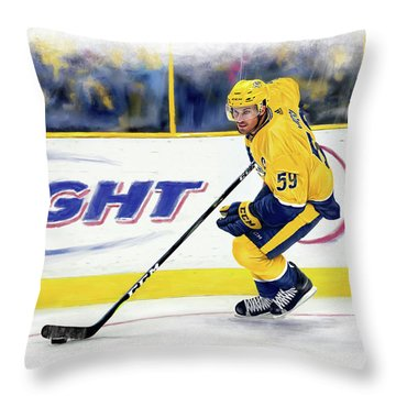 Roman Josi Throw Pillow