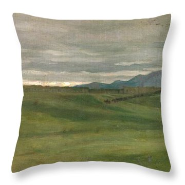 Roman Landscape Throw Pillow