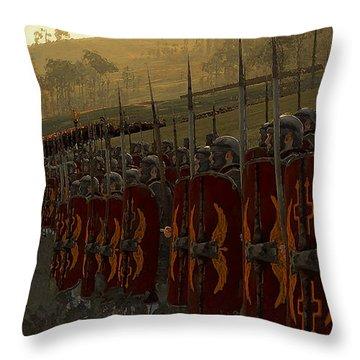 Roman Legion In Battle - Ancient Warfare Throw Pillow