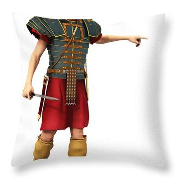 Roman Legionary 1st Ad T-shirt Throw Pillow