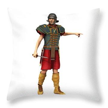 Roman Legionary 1st Century Ad Throw Pillow