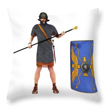 Roman Marine Optio 1st Cen Ad Throw Pillow