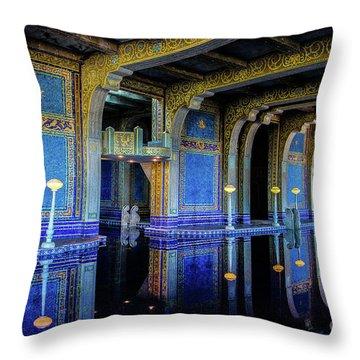 Roman Pool Throw Pillow