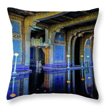 Roman Pool Throw Pillow