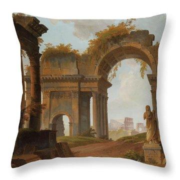 Roman Ruins Capri Throw Pillow