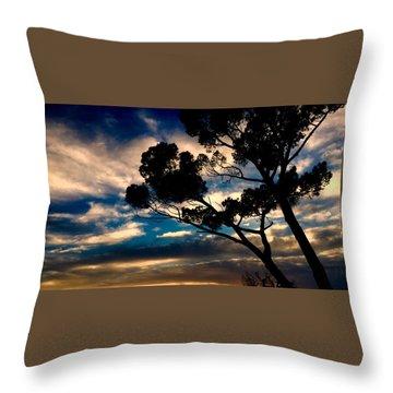 Roman Sunset Throw Pillow