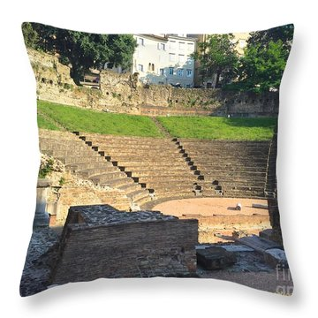 Roman Theater Throw Pillow
