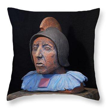 Roman Warrior Roemer - Roemer Nettersheim Eifel - Military Of Ancient Rome - Bust - Romeinen Throw Pillow