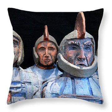 Roman Warriors - Bust Sculpture - Roemer - Romeinen - Antichi Romani - Romains - Romarere Throw Pillow